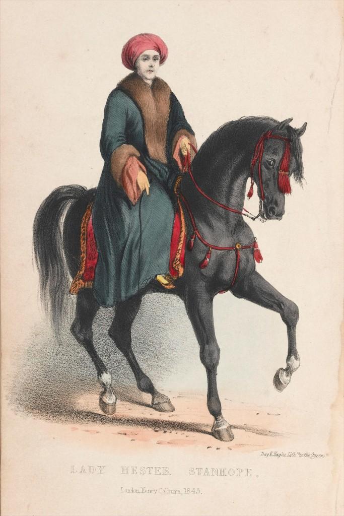 La imagen tiene un atributo ALT vacío; su nombre de archivo es lady_hester_stanhope_on_horseback_wellcome_l0041138.jpg